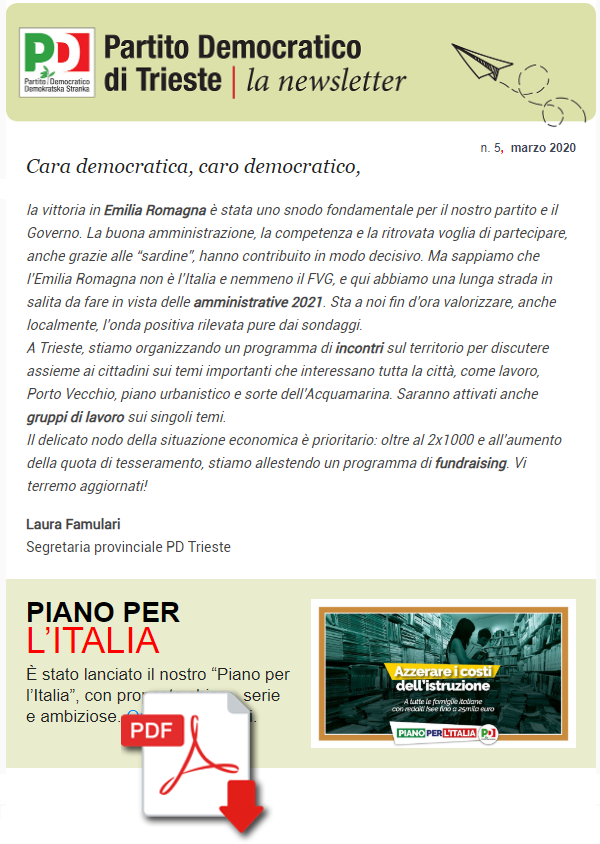 Newsletter n. 5 marzo 2020