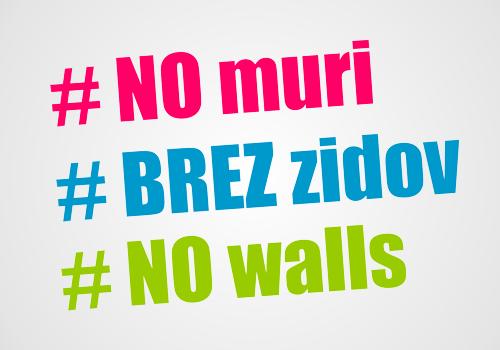 Manifestazione a difesa dei liberi confini  #NoMuri   #BrezZidov  #NoWall