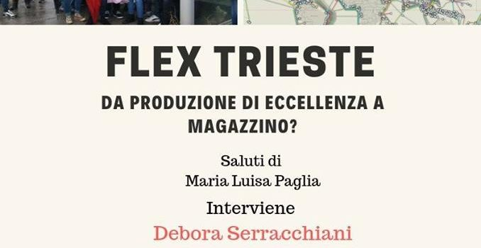 """""""FLEX TRIESTE, da produzione di eccellenza a magazzino?"""". Assemblea Pubblica Circolo PD «Ondina Peteani»"""