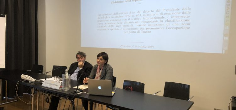 Porti: Serracchiani, pdl taglia tasse a scalo Trieste