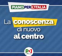 Piano per l'Italia: scuola, insegnanti e ricerca al primo posto
